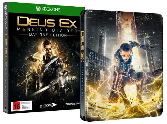 Deus Ex: Mankind Divided Steelbook Edition Day One Edition (Издание первого дня) (Xbox One)