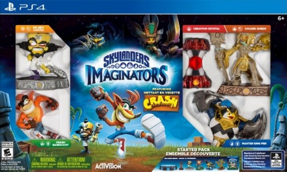 Skylanders Imaginators: Стартовый набор Crash Edition: игра, игровой портал, фигурки: King Pen, Golden Queen, Dr.Neo Cortex, Crash Bandicoot (PS4)