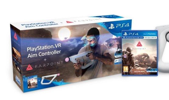 Sony PlayStation VR Eur шлем виртуальной реальности + Farpoint (Только для PS VR) Русская Версия + Контроллер прицеливания Aim Controller (PS4)