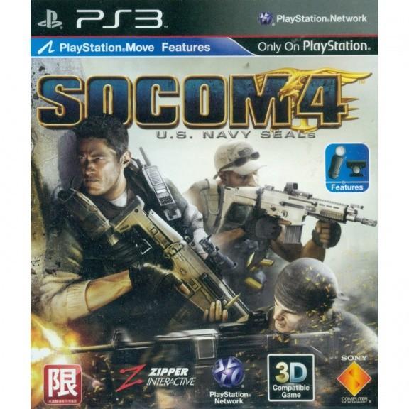 SOCOM 4: U.S. NAVY SEALS поддержкой PlayStation Move Asia version (PS3)