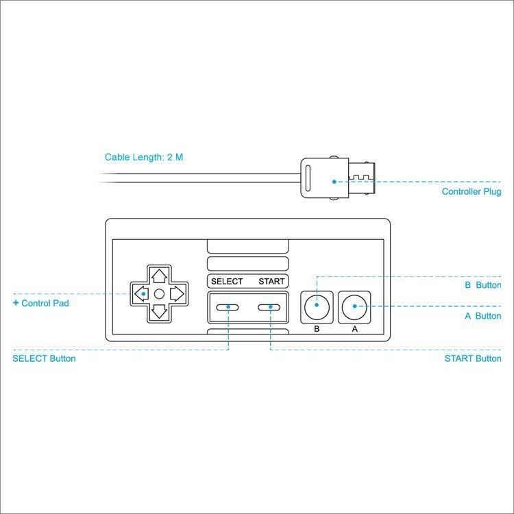Геймпад проводной DOBE (TY-839) (NES)
