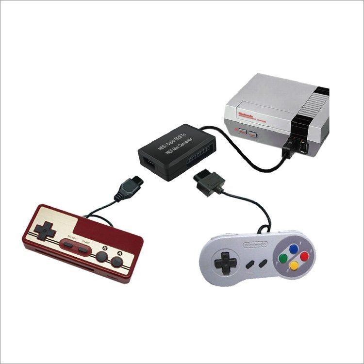 Переходник (конвертер) для геймпадов SNES, Super Famicom и 8 bit 9 pin к NES Classic mini DOBE (TY-842) (NES)