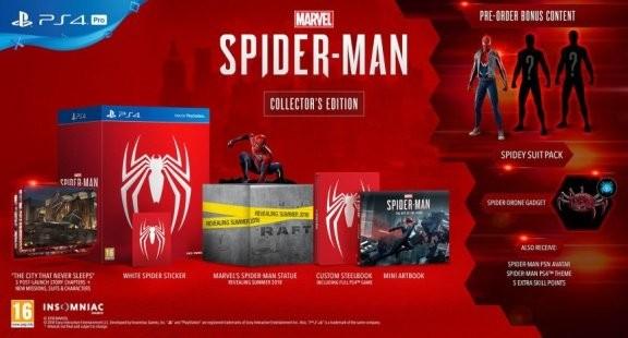 Marvel Человек-паук (Spider-Man) Collectors Edition Русская Версия (PS4)