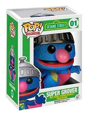 Фигурка Funko POP! Bobble Vinyl: Супер Гровер (Super Grover) Улица Сезам (Sesame Street) (4890) 9,5 см