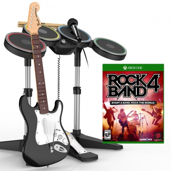 Rock Band 4 Band in a Box Bundle (+ Гитара + Барабаны + Микрофон) (Xbox One)