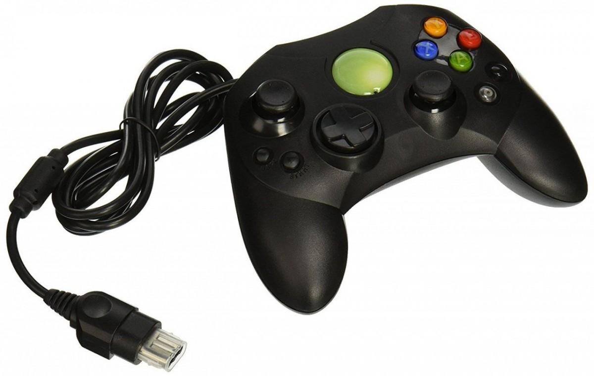 Геймпад проводной Old Skool Xbox Controller (Classic) (Черный)