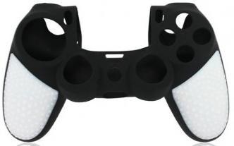 Защитный силиконовый чехол Controller Silicon Case (Non-Slip) для геймпада Sony Dualshock 4 Wireless Controller Черный/Белый (PS4)