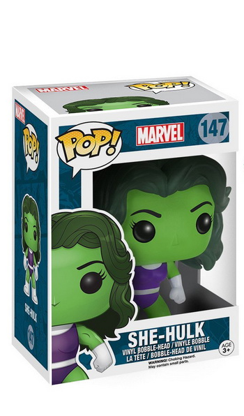 Фигурка Funko POP! Bobble Marvel: Женщина-Халк (She-Hulk) 10 см