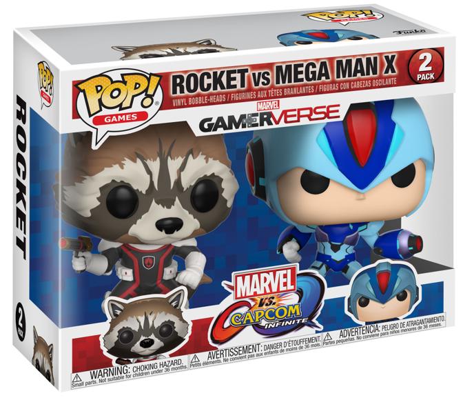 Фигурки Funko POP! Vinyl 2-Pack: Енот Ракета против Мега Мена (Rocket Racoon vs MegaMan) (Capcom vs. Marvel) (22773) 9,5
