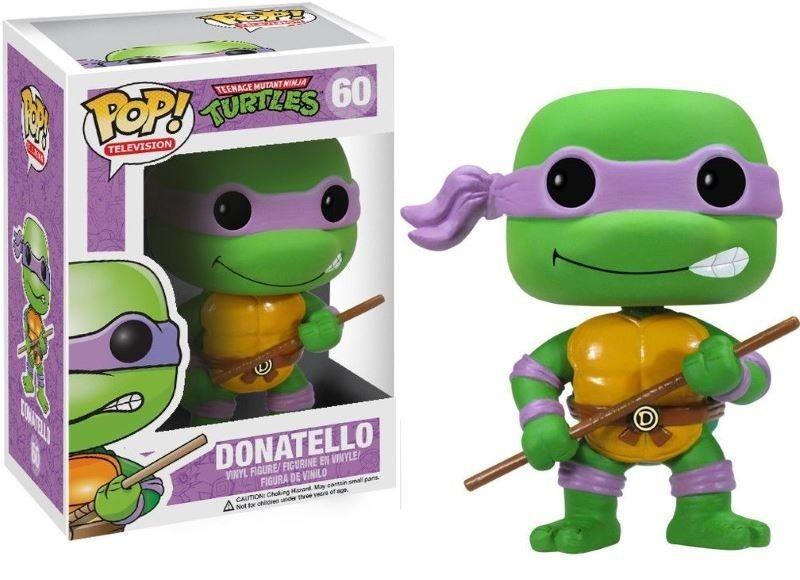 Фигурка Funko POP! Bobble Vinyl: Донателло (Donatello) Черепашки-ниндзя (TMNT) (3344) 9,5 см