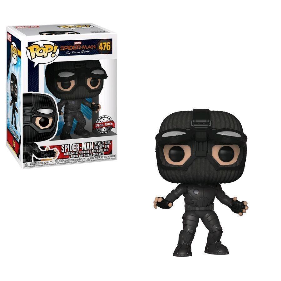 Фигурка Funko POP! Bobble: Человек-Паук в шпионском костюме (Spider-Man Stealth Suit Goggles UP) Человек-Паук: Вдали от дома (Spider-Man: Far From Hom