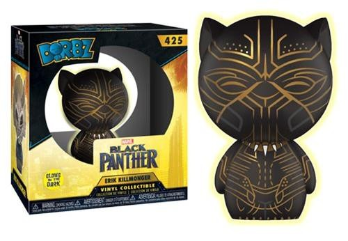 Фигурка Funko Action Figures: Эрик Киллмонгер (Killmonger Panther GITD) Чёрная Пантера (Black Panther) (24592) 8 см