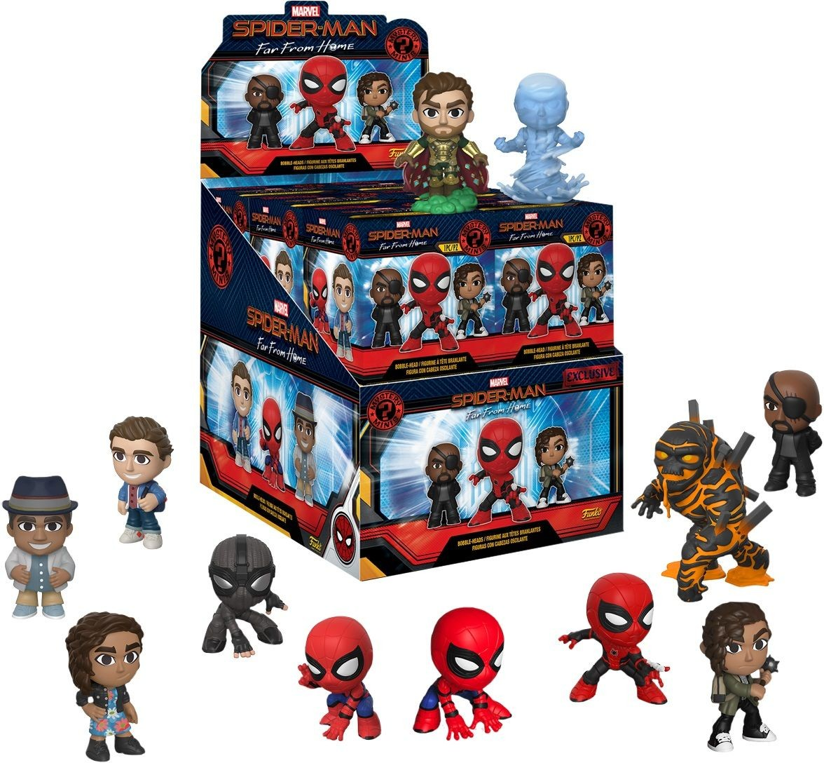 Фигурка Funko Mystery Minis: Слепой выбор 1/12 Человек-паук: Вдали от дома (Spider-Man: Far From Home) (12PC PDQ (Exc2)) (39353) 4 см