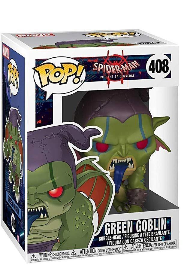 Фигурка Funko POP! Bobble: Зелёный гоблин (Green Goblin) Человек-паук: Через вселенные (Animated Spider-Man) (33979) 9,5 см