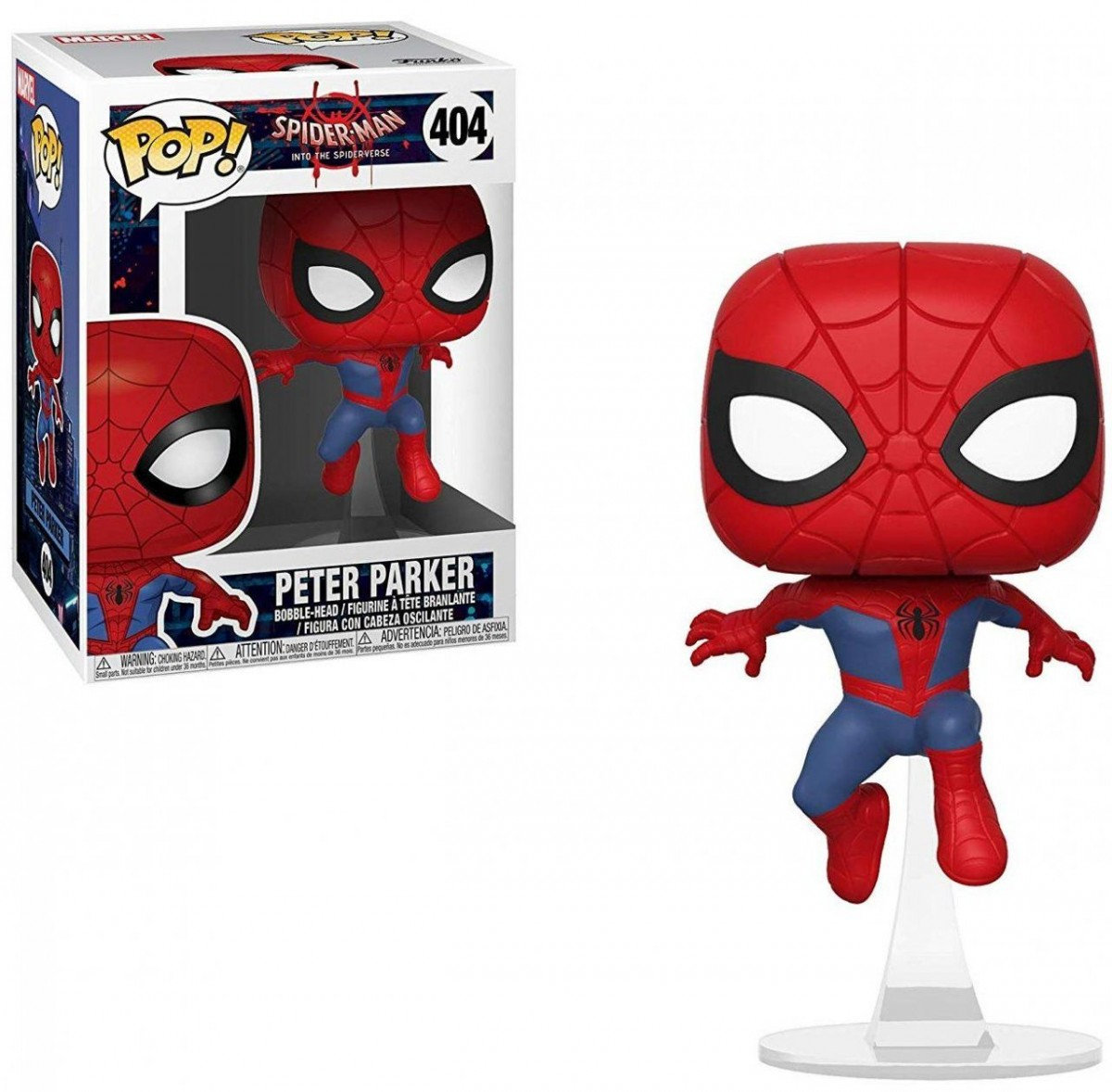 Фигурка Funko POP! Bobble: Человек-паук (Spider-Man) Человек-паук: Через вселенные (Animated Spider-Man) (34755) 9,5 см