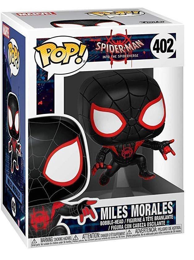 Фигурка Funko POP! Bobble: Человек-паук Майлз (Spider-Man Miles) Человек-паук: Через вселенные (Animated Spider-Man) (33977) 9,5 см
