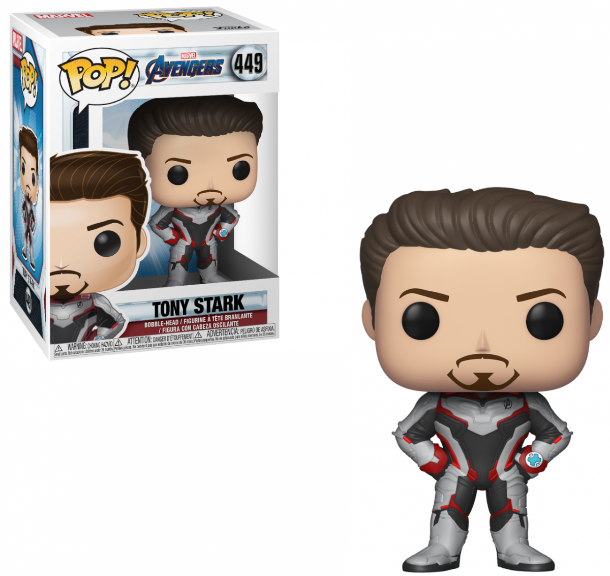 Фигурка Funko POP! Bobble: Железный человек (Tony Stark) Мстители: Финал (Avengers Endgame) (36660) 9,5 см