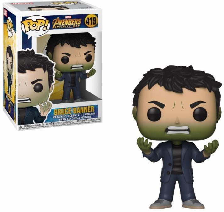 Фигурка Funko POP! Bobble: Брюс Баннер превращается в Халка (Banner w/ Hulk Head) Мстители: Война бесконечности (Avengers Infinity War) (35776) 9,5 см