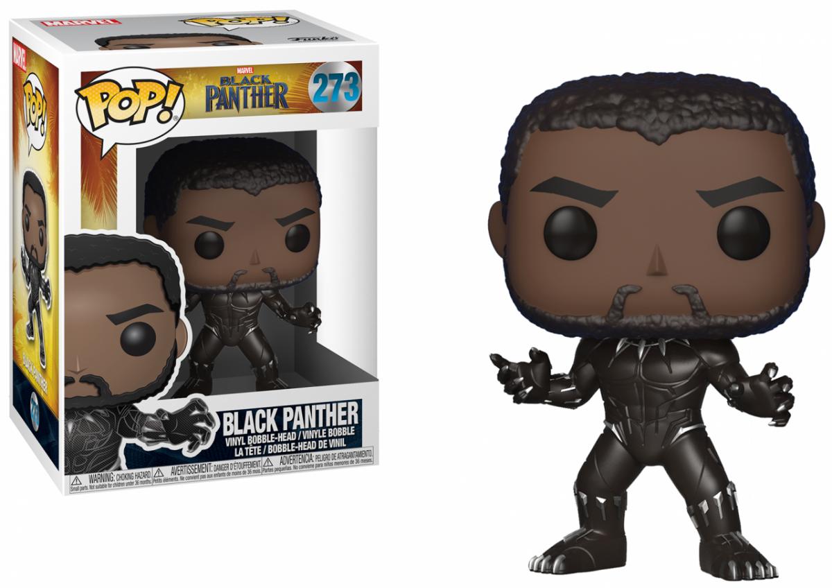 Фигурка Funko POP! Bobble: Чёрная Пантера (Black Panther) (23129) 9,5 см