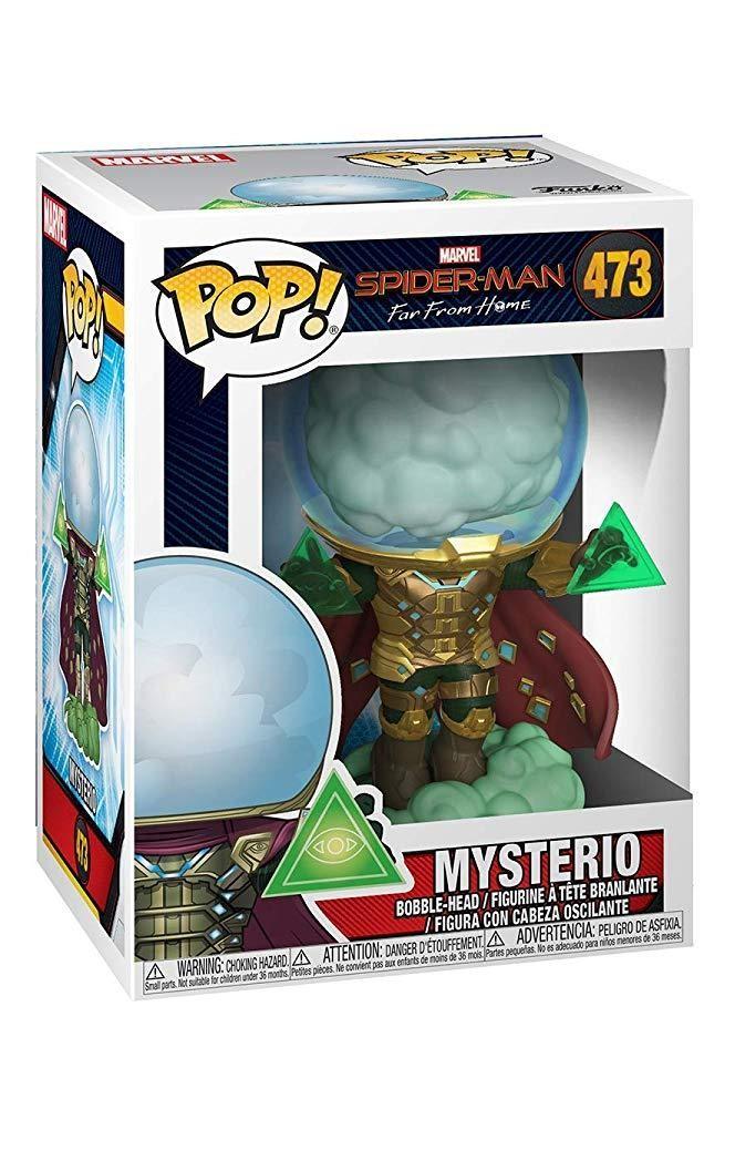 Фигурка Funko POP! Bobble: Мистерио (Mysterio) Человек-паук: Вдали от дома (Spider-Man: Far From Home) (39206) 9,5 см