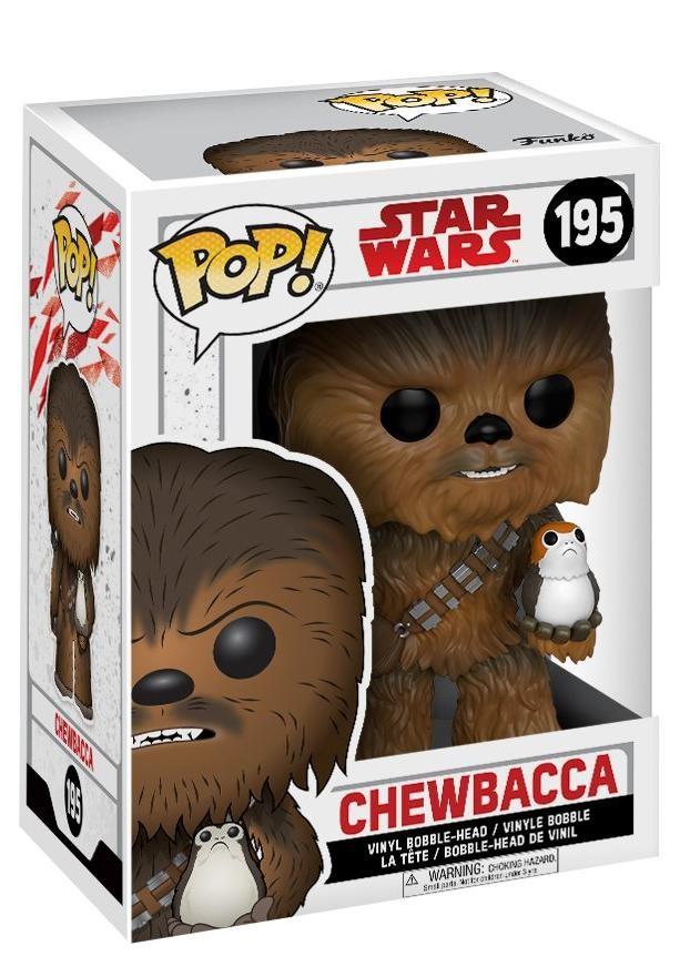 Фигурка Funko POP! Bobble: Звёздные войны: Последние джедаи (Star Wars: The Last Jedi): Чубакка с Поргом (Chewbacca w/ Porg)(14748) 9,5 см