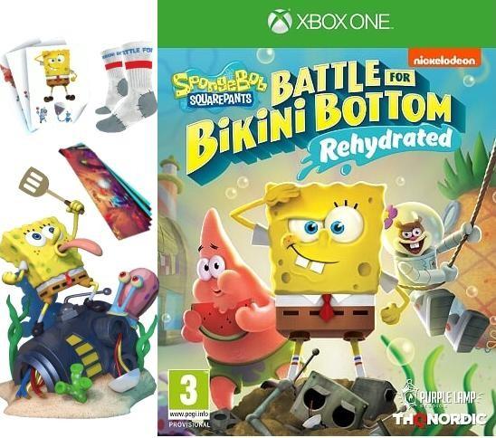 SpongeBob SquarePants: Battle For Bikini Bottom - Rehydrated (Губка Боб Квадратные Штаны: Битва за Бикини Боттом - Регидратация) Shiny Edition Русская версия (Xbox