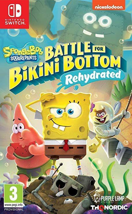 SpongeBob SquarePants: Battle For Bikini Bottom - Rehydrated (Губка Боб Квадратные Штаны: Битва за Бикини Боттом - Регидратация) Русская версия (Switc