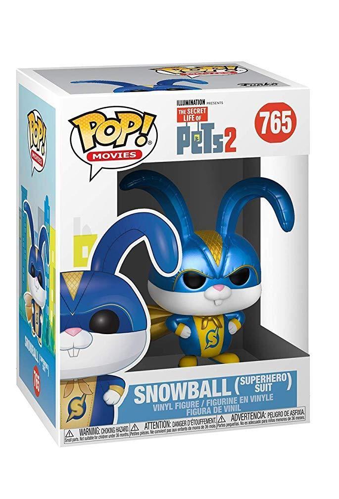 Фигурка Funko POP! Vinyl: Снежок в костюме супергероя (Snowball in Superhero Suit) Тайная жизнь домашних животных 2 (Secret Life of Pets 2) (37890) 9,