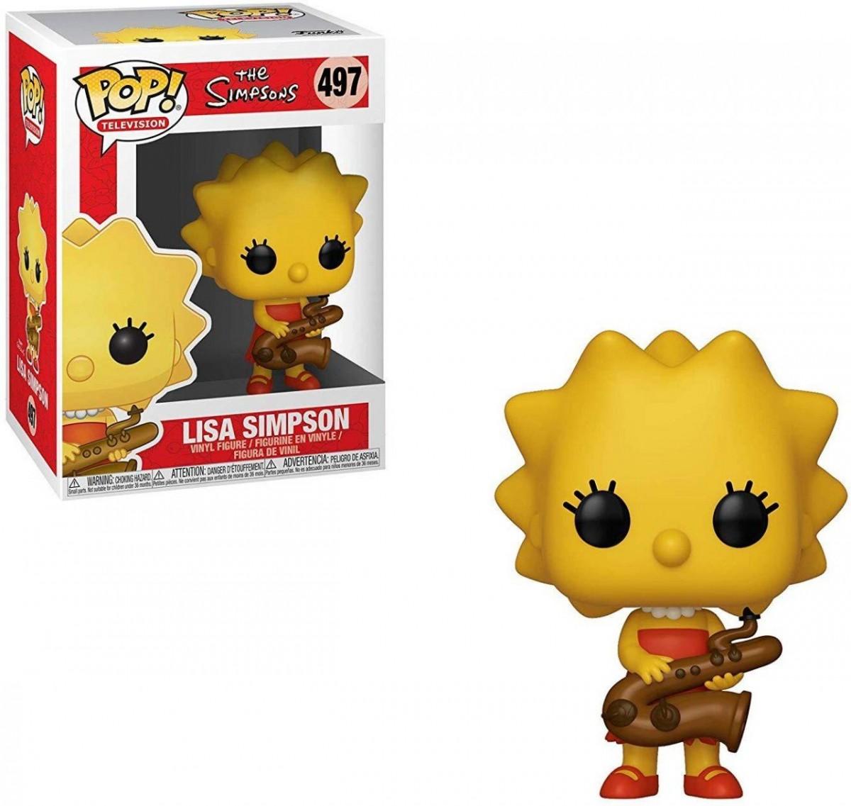 Фигурка Funko POP! Vinyl: Лиса играет на саксофоне (Lisa-Saxphne) Симпсоны 2 Сезон (Simpsons S2) (33877) 9,5 см