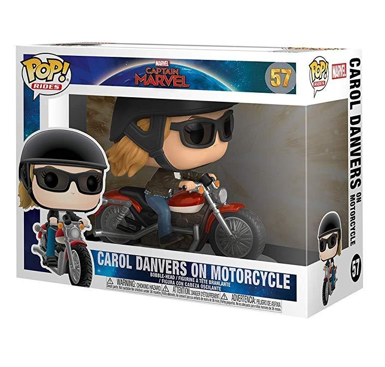 Фигурка Funko POP! Rides: Кэрол Дэнверс на мотоцикле (Carol Danvers on Motorcycle) Капитан Марвел (Captain Marvel) (36418) 9,5 см