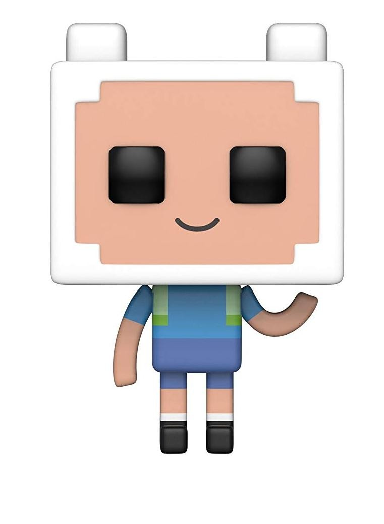Фигурка Funko POP! Vinyl: Финн (Finn) Время приключений/Майнкрафт 1 Сезон (Adventure Time/Minecraft S1) (32235) 9,5 см