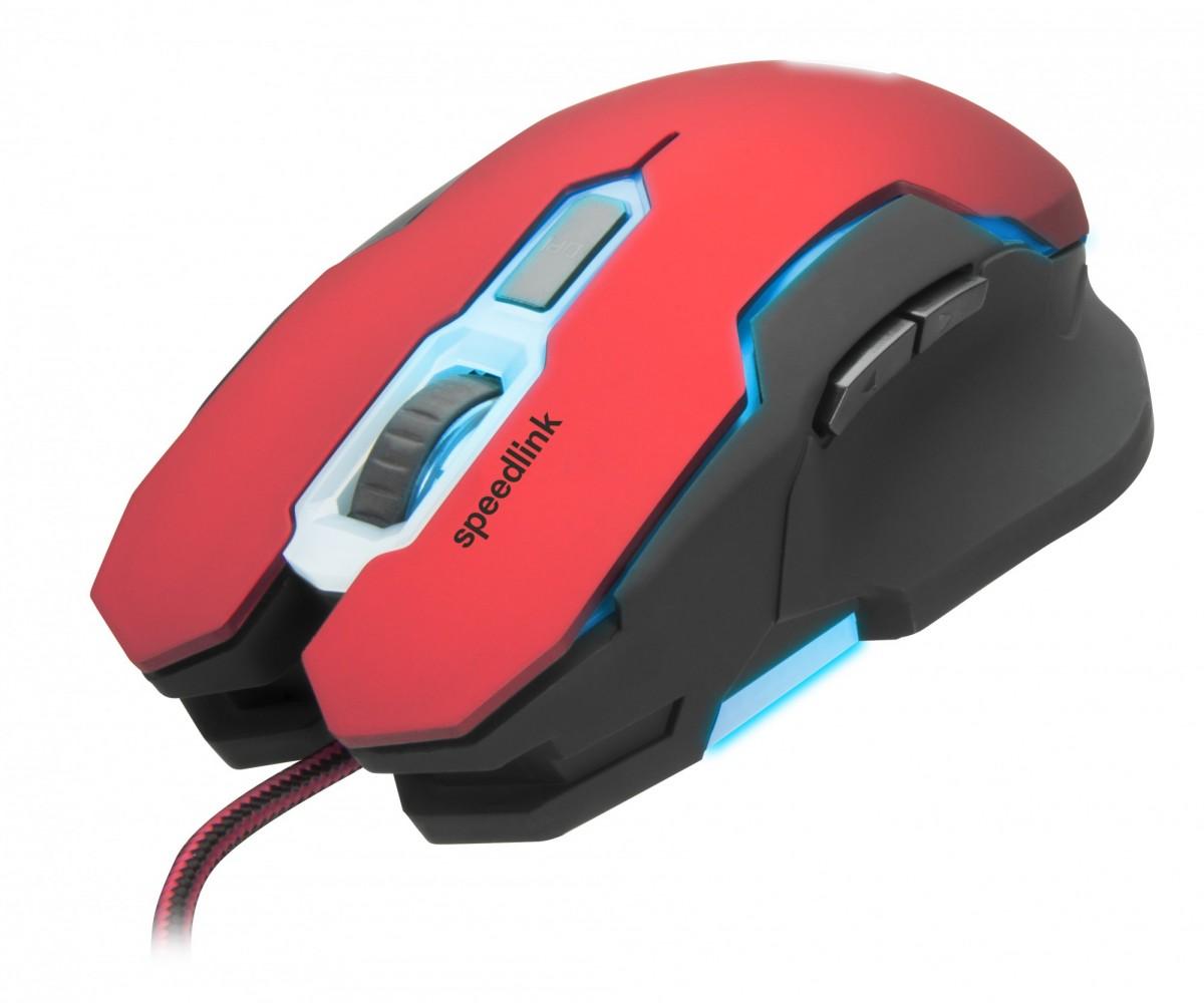 PC Мышь проводная Speedlink Contus Gaming Mouse black-red (SL-680002-BKRD)