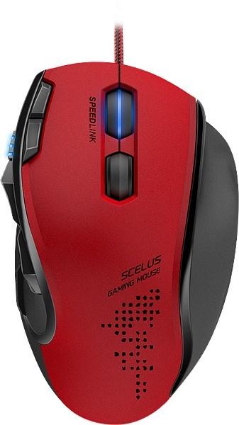 Мышь проводная Speedlink Scelus Gaming Mouse black-red (SL-680004-BKRD)