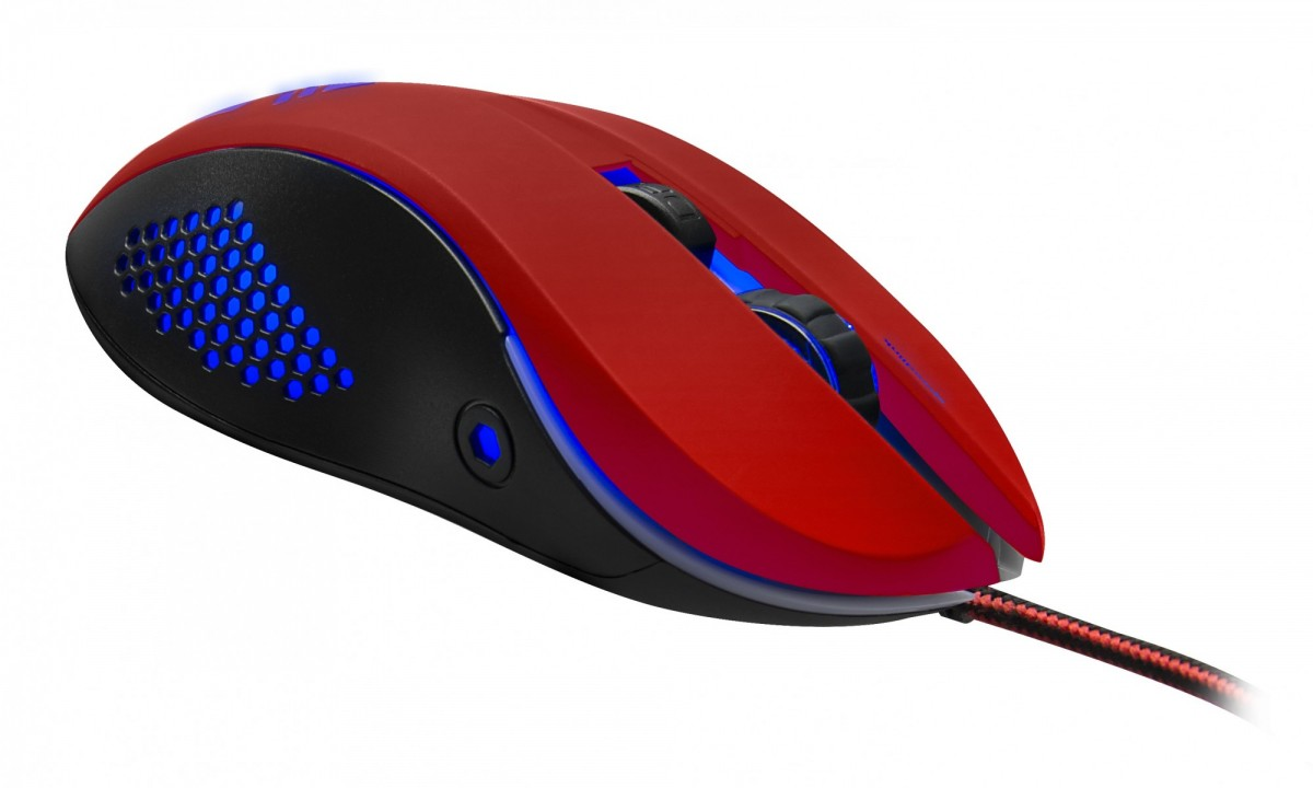 Мышь проводная Speedlink Torn Gaming Mouse black-red (SL-680008-BKRD)