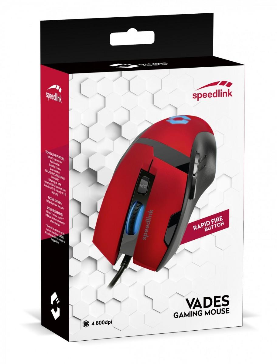 PC Мышь проводная Speedlink Vades Gaming Mouse black-red (SL-680014-BKRD)