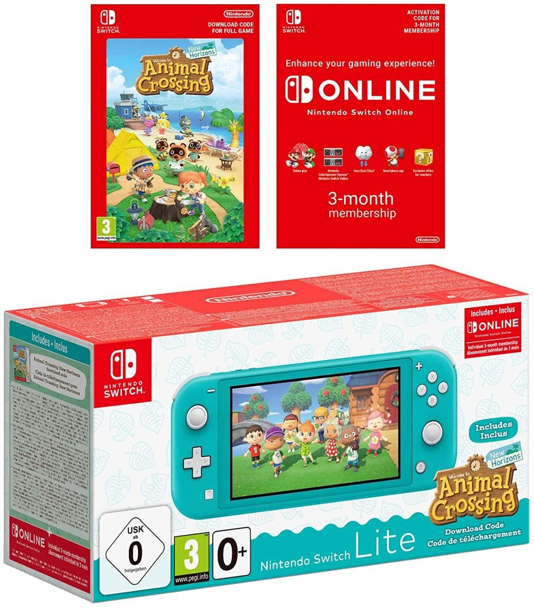Nintendo Switch Lite (бирюзовый) + Animal Crossing + 3 м онлайн