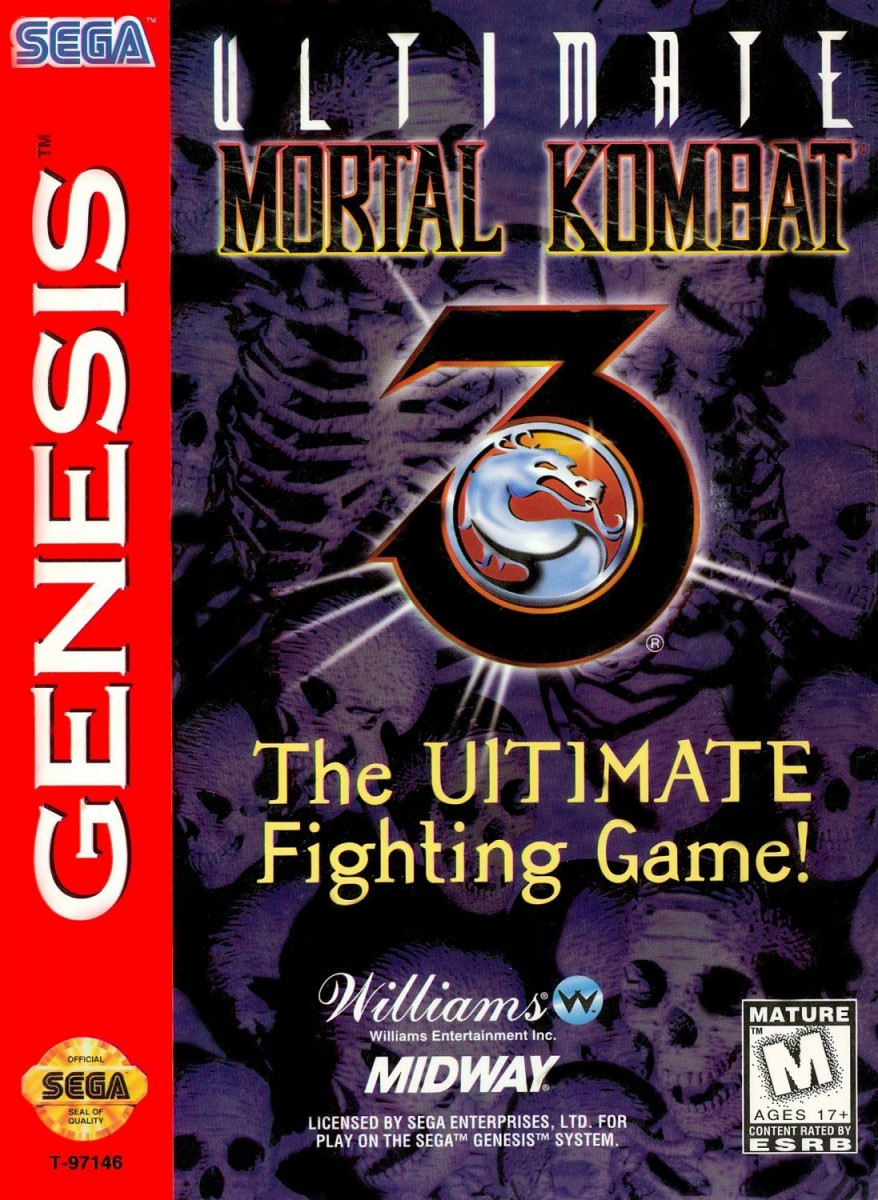 Картридж Mortal Kombat 3 Ultimate Fighting Game (16 bit) для Сега