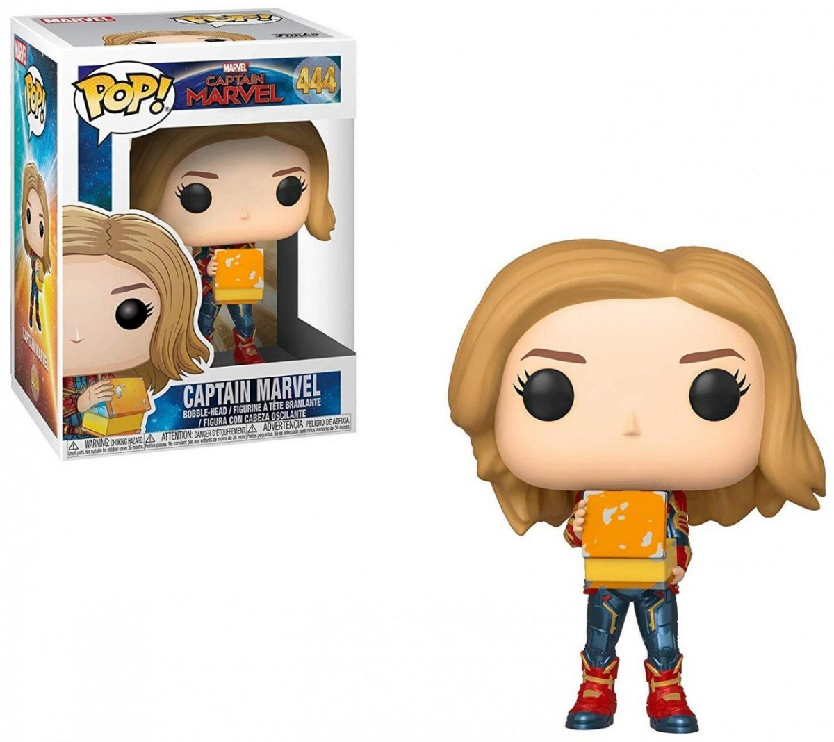Фигурка Funko POP! Bobble: Капитан Марвел с ланч боксом (Captain Marvel w/Lunch Box) Капитан Марвел (Captain Marvel) (37685) 9,5 см