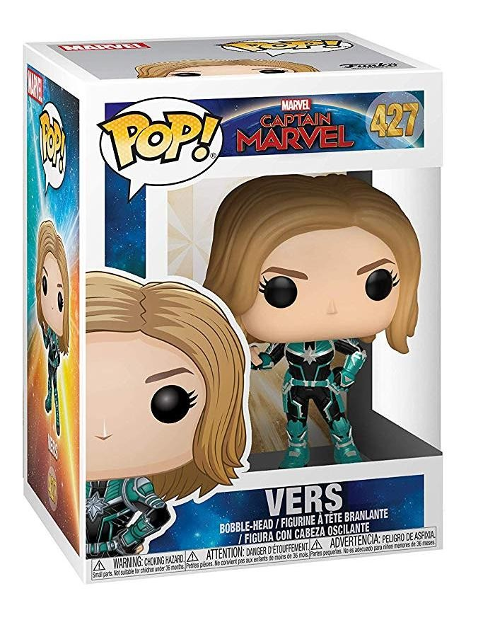 Фигурка Funko POP! Bobble: Верс (Vers) Капитан Марвел (Captain Marvel) (36342) 9,5 см