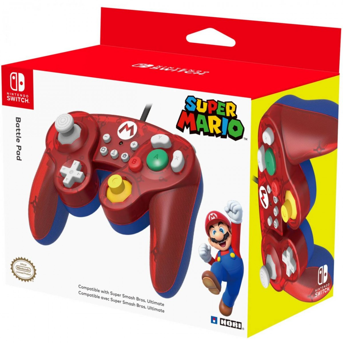 Геймпад проводной Hori Battle Pad Mario HORI (NSW-107U) (Switch)