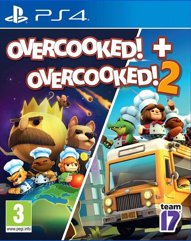 Overcooked! + Overcooked! 2 (Адская кухня 1+2) (PS4)