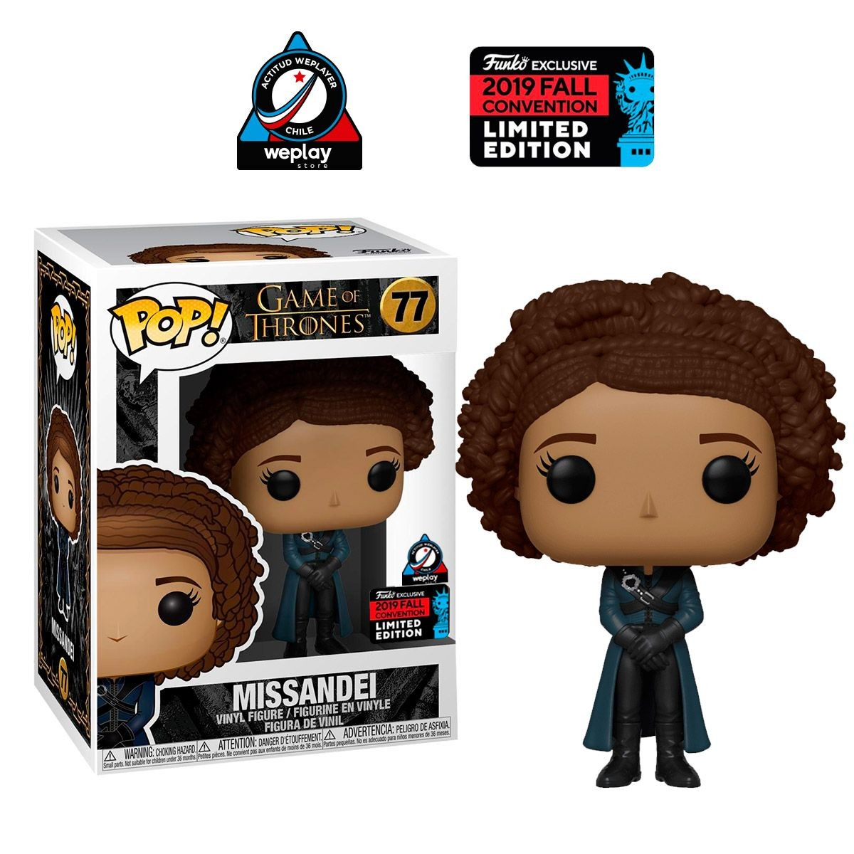 Фигурка Funko POP! Vinyl: Миссандея (Missandei (NYCC 2019 Limited Edition Exclusive)) Престолов (Game of Thrones) (40353) 9,5 см